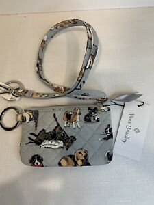 Vera Bradley Zip ID & Lanyard Best in Show Dogs RARE RETIRED Sold out NWT Exact