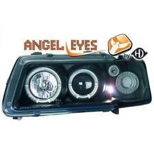 LHD Projector Headlights Headlamp Pair Angel Eyes Clear Black For Audi A3 96-03