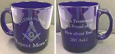 Freemasonry Proud to be a Mason 2B1Ask1 Cobalt Blue Coffee Cup