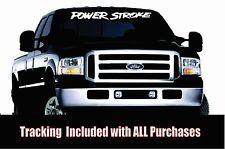 Powerstroke Banner *Window Vinyl decal Sticker Truck Diesel 2500 Stacks Soot