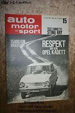 AMS Auto Motor Sport 15/63 Opel Kadett Corvette Sting Ray TDE VW Käfer