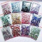 2000 Pcs Wholesale Crystal Flat Back Acrylic Rhinestones Gem beads 21 Colors 2mm