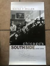 Photographs By Wayne F Miller Signed Poster UC Press Chicago's Southside 1946-48