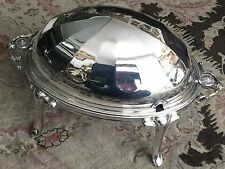 Antique Ornate 1890s James Dixon & Sons Silver Plated Dome Shaped Tureen