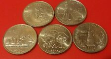 2000 P or D MINTS 5 US STATE QUARTER DOLLAR COINS YEAR SET