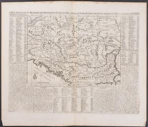 Chatelain - Map of Croatia to Black Sea. 7-40 - 1718 Atlas Historique Engraving