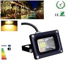 10W Floodlight SMD Warm White LED Security Outdoor Garden Lamp IP65 12V uk