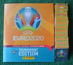 PANINI EURO TOURNAMENT 2020  FULL LOOSE SET OF 678 STICKERS + EMPTY ALBUM""