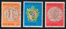 Vatican 1970 CTO Sc 484-486 Centenary Medal.Centenary of the Vatican I Council