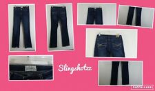 "'12 *Aeropostale Chelsea* Wmn's ""5/6 Long"" Low Whisker Stretch Boot Cut Jeans"