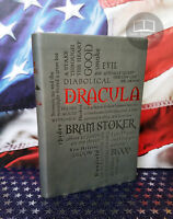 NEW Dracula by Bram Stoker Faux Leather Softcover Word Cloud Edition