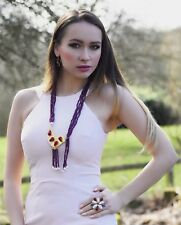 Piedra Preciosa Semi ottomangems Oro Collar Colgante Perla Jade Hecho A Mano