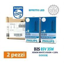 2 LAMPADINE XENON D2S PHILIPS WHITE VISION 5000K +120% EFFETTO LED 85122WHV2C1
