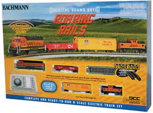Bachmann N Scale Roaring Rails BNSF Train Set w/DCC E-Z Comm Controller BAC24132