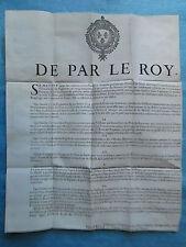 AFFICHE 1712 : ARRÊT ARMATEURS VAISSEAUX SUEDOIS, PASSEPORTS...