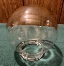 Vintage Mid Century Modern Clear Globe Screw In Light Fixture Unknown Unmarked