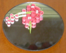 Handcrafted Paper Quill Pink Flower Magnet Mirror