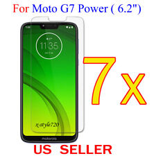 """7x Clear LCD Screen Protector Guard Cover Film For Motorola Moto G7 Power (6.2"""")"""
