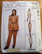 Mccall's Sewing Pattern No. 8013 Ladies Suit & Pants Size 14-18