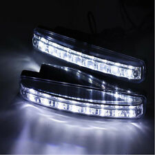 White 12W 8 LED Wires Daytime Running Light DRL Car Driving Front Fog Lamp