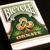 Ornate Emerald Playing Cards White Edition Poker Magic Deck