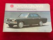 T25...RARE ORIGINAL TOYOTA CROWN CAR 1972 OWNERS MANUAL GREAT CONDITION