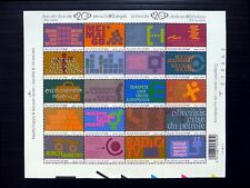BELGIUM 2002 Sheetlet of 20 MS3731 U/M NB250