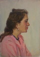 YOUNG WOMAN,Armenia1950s,Soviet Impressionism,Painting,Armenian Art,HARUTYUNYAN
