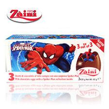 [Zaini] Marvel Spiderman Milk Chocolate Egg Collectible Toys Inside 3 Eggs Italy