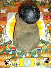 ORANGE CHINTAMANI JEWEL of ABUNDANCE,CINTAMANI,Jambala,w,ANCIENT FOOT STONE,SET