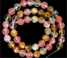 "8mm Faceted Multicolored Watermelon Tourmaline Gems loose Beads 15"" Strand"