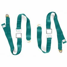 2x Adjustable Seat Belt Car Truck Lap Belt Universal 2 Point Safety Travel AQUA