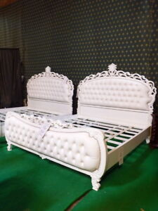 High Quality Super King Size 6' White  Baroque mahogany Chatelet® Bedframe