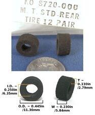 2 Aurora Afx Mt Ho Slot Car Original Rear Tires #8720