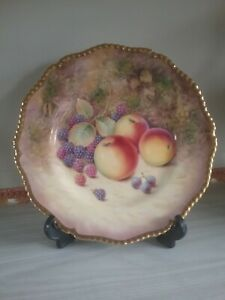 royal worcester,hand painted fruit cabinet plate