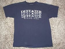 DEFEATER The Red, White and Blues T-SHIRT Blue (L) Large TOUR Concert BOSTON HC