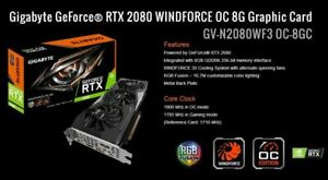 GIGABYTE GeForce RTX 2080 WINDFORCE OC 8G Graphics Card