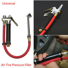 Autos Car Air Tire Pressure Filler Dual Chuck Inflator Gun Gauge Compressor Hose