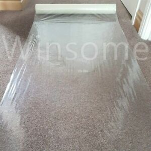 Clear Carpet Protector Film Self Adhesive Temporary Water Resistant Floor Sheet