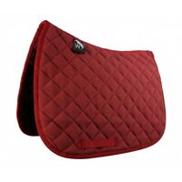 NEW-John Whitaker Ted Fleece Quilted Saddlepad- Numnah-Red-Full Size-Free P&P