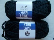 Needle Crafters 100% cotton yarn, Black, lot of 2 (80 yds each)