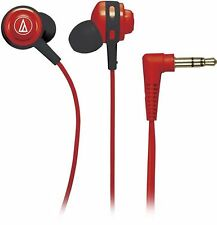 Audio-Technica ATH-COR150 Core Full Bass In-Ear Headphones Earbuds RED
