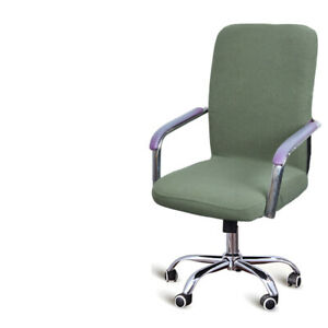Stretch Swivel Chair Cover Zipper Slipcover Seat Cover Cushion Dust Cover I