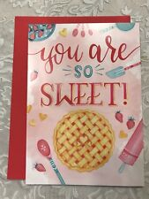 Greeting Card, Thank You, Baked Pie, Rolling Pin Design, Blank Inside