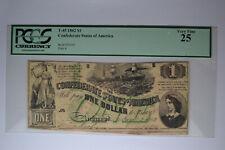 T45 $1 1862. Pcgs Very Fine 25.