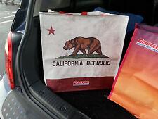 "Costco 16x16"" reusable grocery tote school shopping travel bag canvas vinyl"
