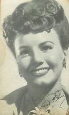 JANET BLAIR AMERICAN ACTRESS & BIG BAND SINGER ARCADE CARD NON-P/C