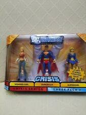 DC UNIVERSE CRISIS INFINITE HEROES 3 PACK - SUPERMAN - WONDER GIRL- SUPERGIRL
