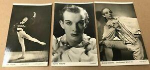 3 x Vintage Ballet Photo 1940s/50s Alex Rassine (A13)