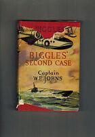 CAPTAIN W. E. JOHNS  Biggles Second Case - 1949 in dustwrapper